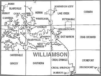 Williamson County, Illinois - Map of Williamson County, Illinois