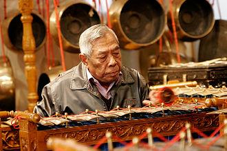 Gendèr - A man playing a gendèr