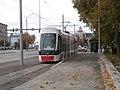 Tram 513 at New Temporary Tram Stop in Lasnamae Tallinn 18 October 2015.jpg