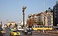 Tram in Sofia near Sofia statue 2012 PD 012.jpg