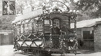 Trams in Rouen - Tram decorated for the Norman Millennium fêtes in 1911