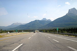 Alberta Highway 1 - Eastbound near Canmore