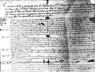 Treaty of Pilar - Pilar Treaty's document