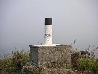 Triangulation station fixed surveying station used in geodetic surveying