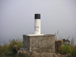 Triangulation station Fixed surveying station used in geodetic surveying