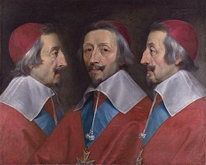 Charles I in Three Positions - Image: Triple Portrait of Cardinal de Richelieu probably 1642, Philippe de Champaigne