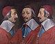 Triple Portrait of Cardinal de Richelieu probably 1642, Philippe de Champaigne.jpg