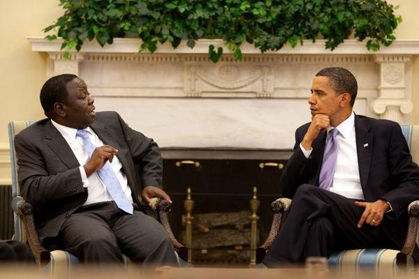 Tsvangirai Obama