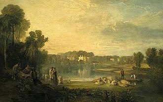 Pope's villa - Pope's villa at Twickenham by J. M. W. Turner (1808)
