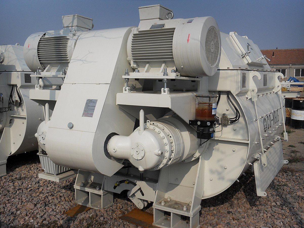 Parts Of A Cement Mixer : Concrete mixer wikipedia