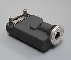 A twin-output Universal LNB with a C120 flange fitting for a separate feedhorn Twin universal flange lnb.jpg