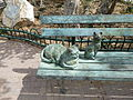 Two Cats on a Bench P1220442.JPG