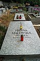 Tyniec parish cemetery, grave of Hanna Malewska, Benedyktyńska street, Tyniec, Krakow, Poland.JPG