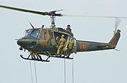 UH-1J & rapeling infantry