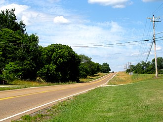 Tennessee State Route 28 - US 127 and SR 28 near Lees Station.