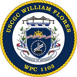 USCGC William Flores WPC 1103 Coat of Arms.jpg
