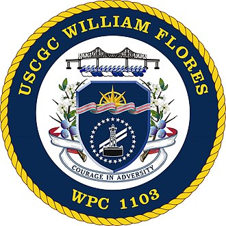 William Flores - Image: USCGC William Flores WPC 1103 Coat of Arms