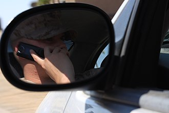 Mobile phones and driving safety - A driver using a cellphone