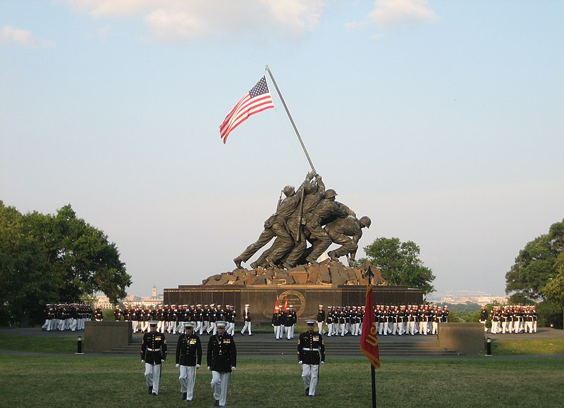 File:USMC War Memorial Sunset Parade 2008-07-08.jpg