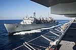 USNS Supply (T-AOE-6) refuels USS Iwo Jima (LHD-7) in the Atlantic Ocean on 7 November 2017 (171107-N-PC620-0051).JPG