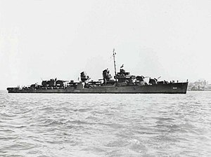 USS Abner Read (DD-526) in San Francisco Bay, California (USA), on 13 June 1943