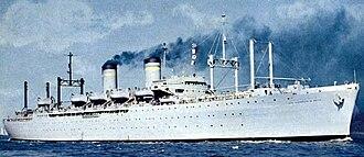 P2 transport - Image: USS Admiral R. E. Coontz (AP 122)