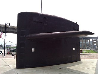 Buffalo and Erie County Naval & Military Park - Image: USS Boston Sub Sail