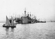 USS Bridgeport (ID-3009) at Brest, France, circa in 1918 (NH 42569)