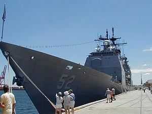 USS Bunker Hill (CG-52) - USS Bunker Hill at Fremantle, Western Australia.