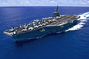 USS Carl Vinson (CVN-70) underway in the Pacific Ocean on 31 May 2015