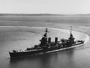 USS New Orleans (CA-32) - Image: USS New Orleans (CA 32) underway in Puget Sound on 30 July 1943 (NH 94847)