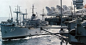 USS Regulus (AF-57) replenishing America (CV-66) in 1970.jpg