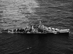 USS Reno (CL-96) two days after being torpedoed