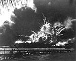 USS SHAW exploding during the Japanese raid on Pearl Harbor. December 7, 1941. (Navy)-NARA FILE -- 080-G-16871-WAR and CONFLICT BOOK -- 1135 HD-SN-99-02794.jpg