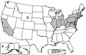 Height above average terrain - FM broadcast zones in the U.S.