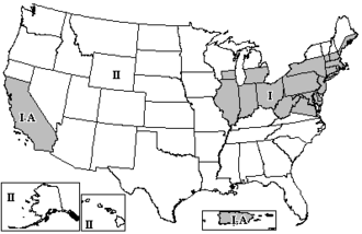 Height above average terrain - FM broadcast zones in the U.S.