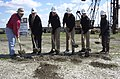 US Navy 030402-N-0000X-013 Breaking ground for the new Port Operations Tower, from left, Paul Littlefield, project manager of S.B. Ballard.jpg