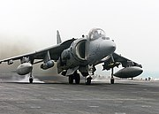 US Navy 030407-N-9977R-001 An AV-8B Harrier from the 24th Marine Expeditionary Unit (24th MEU) Air Combat Element (ACE)