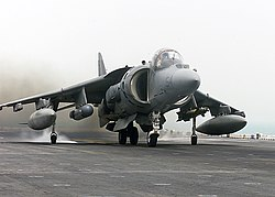 US Navy 030407-N-9977R-001 An AV-8B Harrier from the 24th Marine Expeditionary Unit (24th MEU) Air Combat Element (ACE).jpg