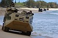 US Navy 050628-N-9866B-009 U.S. Marines assigned to 3rd Amphibious Assault Battalion, drive their Amphibious Assault Vehicles (AAVs) down the beach.jpg