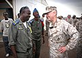 US Navy 061205-N-1328C-343 U.S. Marine Corps Forces Central Commander, Lt. Gen. James Mattis visits with local officials from Douda, Djibouti, home base for the Combined Joint Task Force-Horn of Africa command.jpg