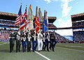 US Navy 070210-N-4965F-001 A joint service color guard parades the colors at mid-field during the National Football League's 2007 Pro Bowl game at Aloha Stadium in Honolulu, Hawaii.jpg