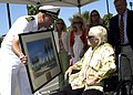 US Navy 080809-N-3581D-048 A painting of the Stockdale Aircraft Memorial is presented to Mrs. Sybil Stockdale, widow of Vice Admiral James Bond Stockdale, during a ceremony near the main gate to Naval Air Station North Island.jpg
