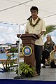US Navy 080822-N-0209M-003 The Honorable Manny Mori, president of the Federated States of Micronesia, speaks at an opening ceremony welcoming Pacific Partnership to the Chuuk islands.jpg