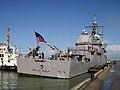 US Navy 090301-N-6804G-002 USS Vella Gulf (CG 72) arrives at the port of Haifa.jpg