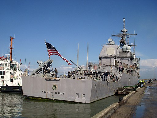 US Navy 090301-N-6804G-002 USS Vella Gulf (CG 72) arrives at the port of Haifa