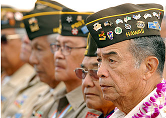 Filipinos in Hawaii - Filipino-American World War II veterans during Araw ng Kagitingan memorial ceremony, 2009