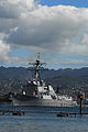 US Navy 100227-N-0995C-020 The guided-missile destroyer USS Chung-Hoon (DDG 93) makes its way out of Naval Station Pearl Harbor as the state of Hawaii is expecting a tsunami generated by an earthquake near Chile.jpg