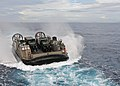 US Navy 111011-N-MW330-066 Landing Craft Air Cushion (LCAC) 9 heads towards the forward deployed amphibious dock landing ship USS Germantown (LSD 4.jpg