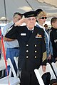 US Navy 111207-N-ZZ999-056 Retired U.S. Navy Senior Chief Petty Officer Elbert W. Sawley salutes the tossing of flowers during a Pearl Harbor Day c.jpg